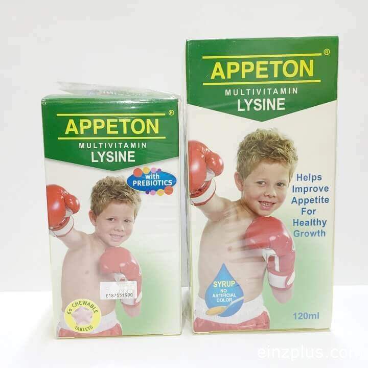 appeton lysine tambah selera makan