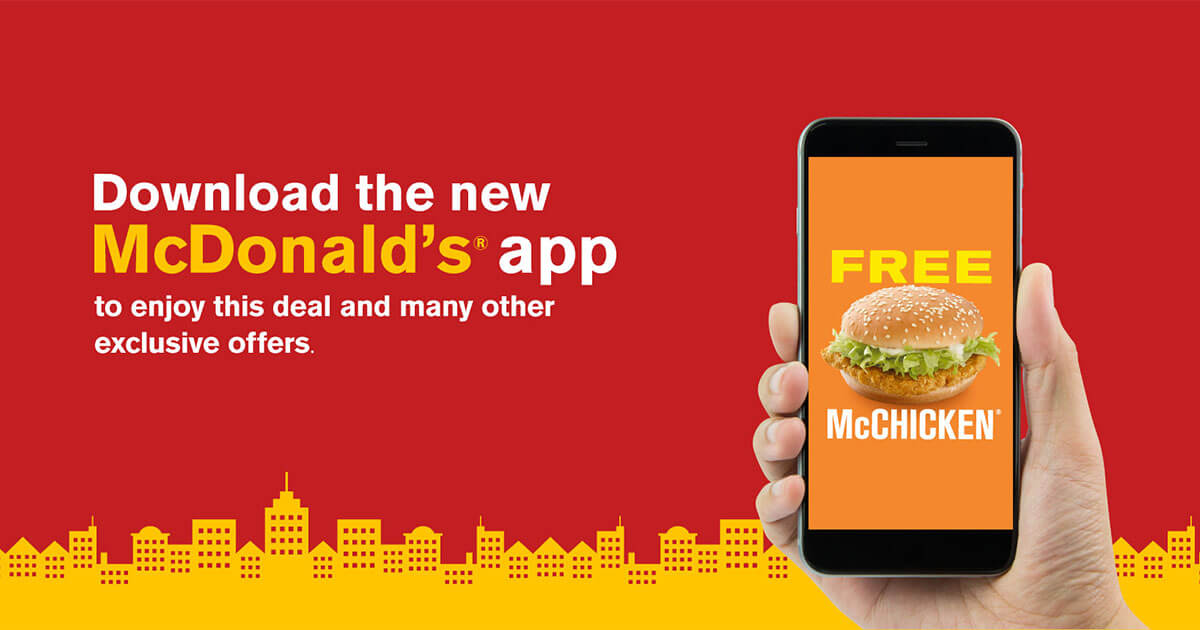 free mcchicken burger malaysia