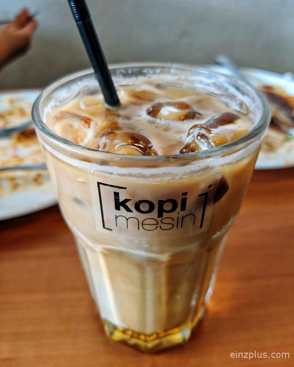 kopi mesin kota bharu iced latte