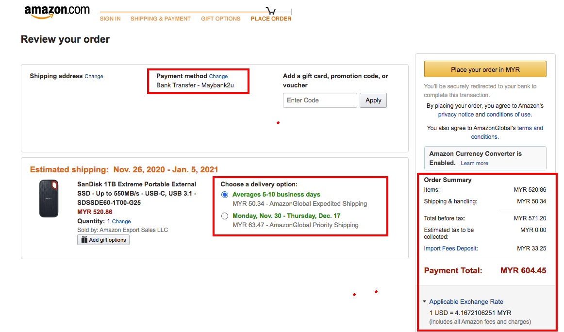 amazon.com maybank2u payment