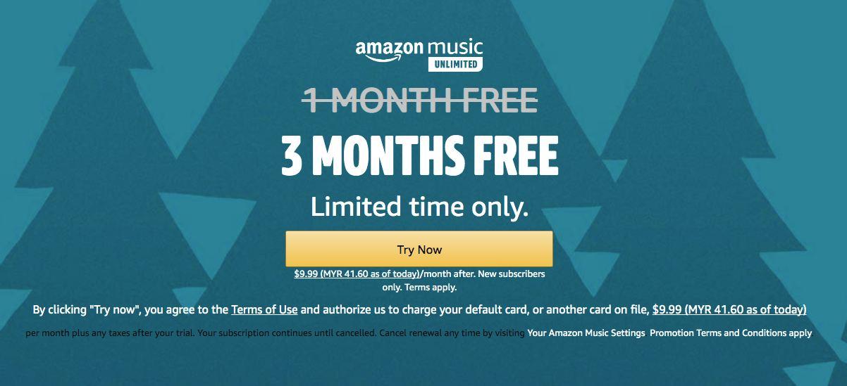 amazon music free malaysia